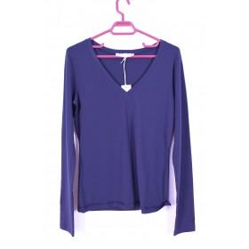 Bluza albastru inchis guler in V Stefanel