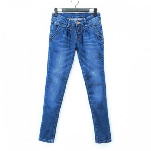 Jeans dama croiala creion cu pense