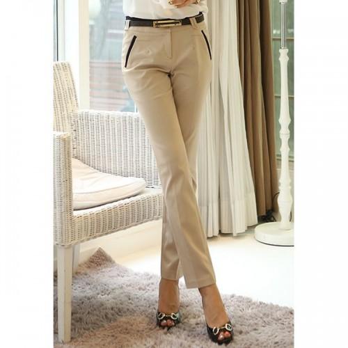 Pantaloni clasici deasupra gleznei cu croiala pana
