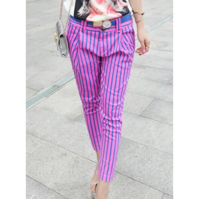 Pantaloni dama harem in dungi verticale