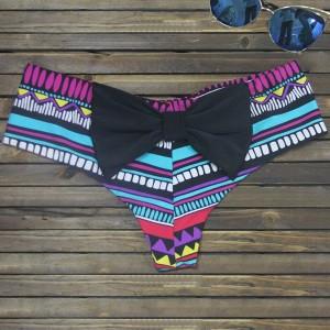 Bikini de dama imprimeu complet si funda