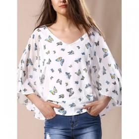 Bluza dama eleganta cu imprimeu fluturasi