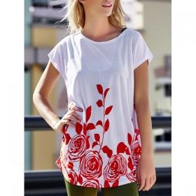 Bluza -tricou de vara cu motive florale