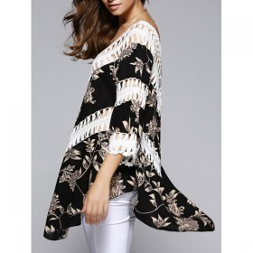 Bluza dama croiala asimetrica in combinatie cu croset