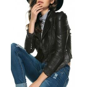 Jacheta dama piele cu fermoare scurta