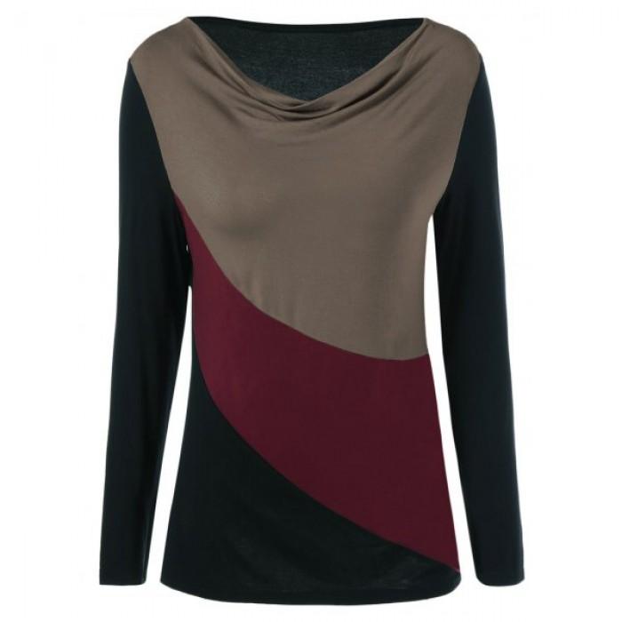 Tricou dama in trei culori maneci lungi