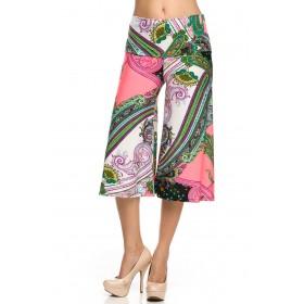 Pantaloni Pallazzo trei sferturi
