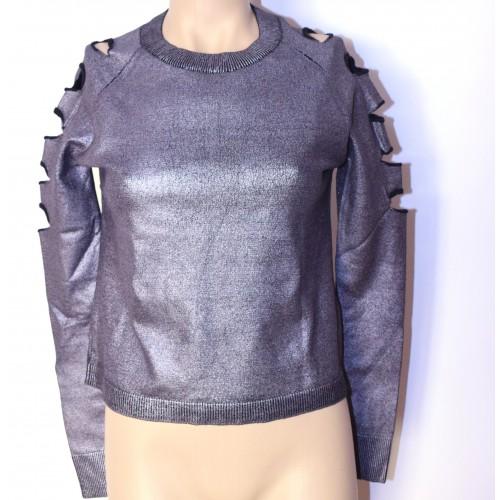 Bluza dama argintie design AMY GEE Italia
