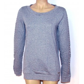 Bluza dama gri cu maneci lungi design AMY GEE Italia