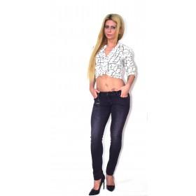 Blugi(Jeans) dama push-up negru vintage AMY GEE Italy AG0006