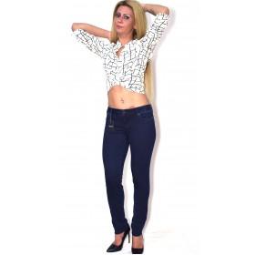 Blugi(Jeans) dama push up albastru vintage AMY GEE Italy AG0011