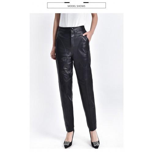 Pantaloni piele naturala -F