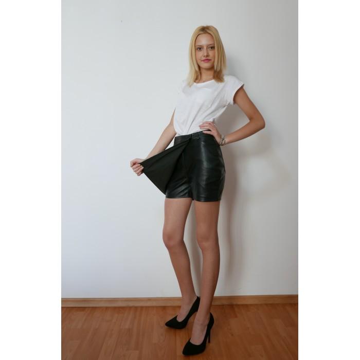 Fusta-pantalon piele naturala