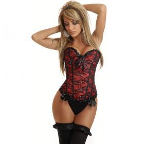 "Corset model""Burlesque"", brocard,satin si dantela"